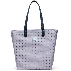 Herschel Mica Tote polka dot crosshatch grey/black